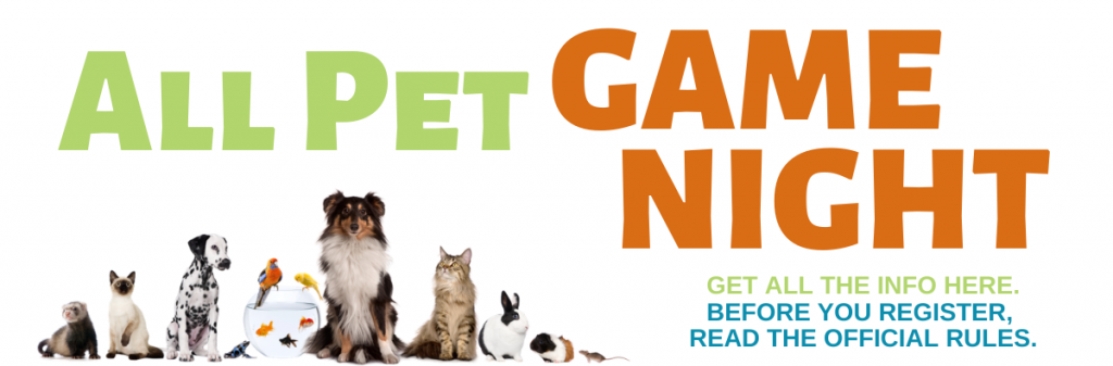 All Pet Game Night Landing Page Header