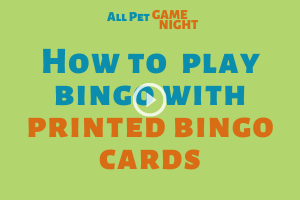 How to play bingo with printed cards