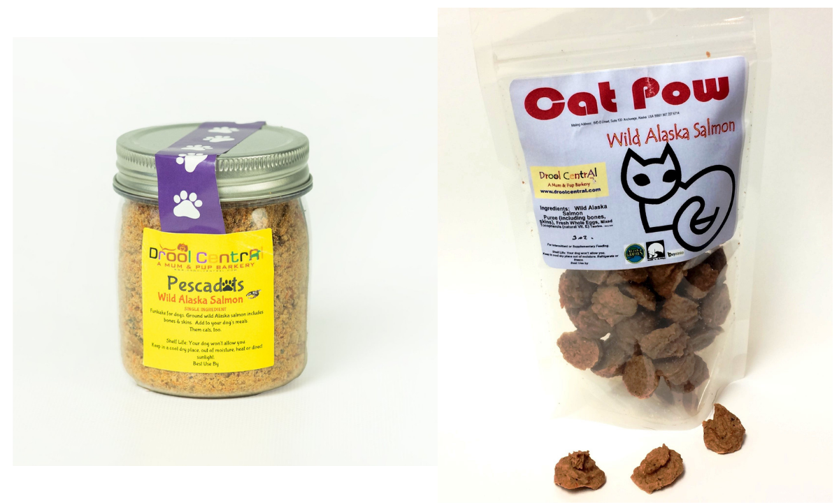 Drool Central Wild Alaskan Salmon Topper and Cat Treats