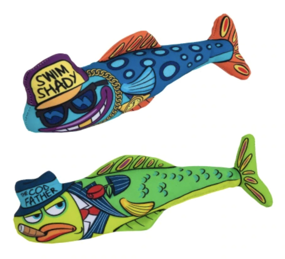 Fish cat bat toys