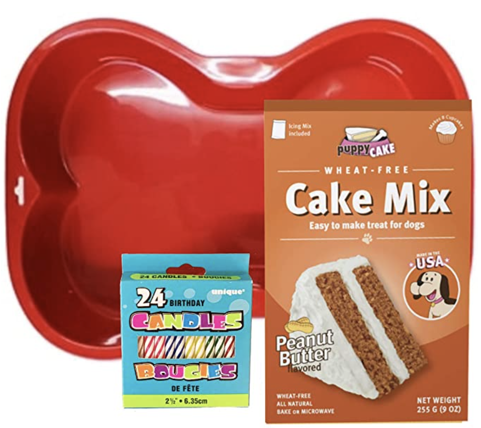 Puppy Cake Peanut Butter Cake and baking pan