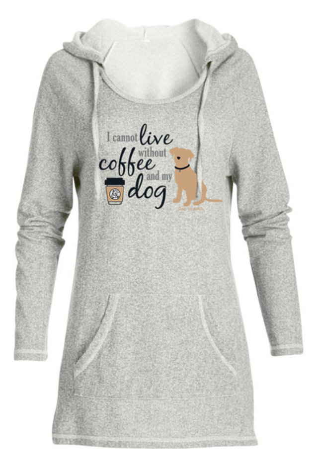 Dog is Good Tunic I cannot live without coffee and my dog