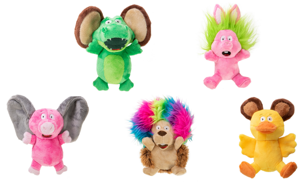 Silent squeaker plush dog toys small