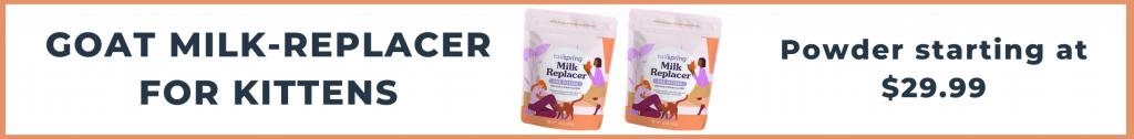 Tailspring milk-replacer powder for kittens starting at $29.99