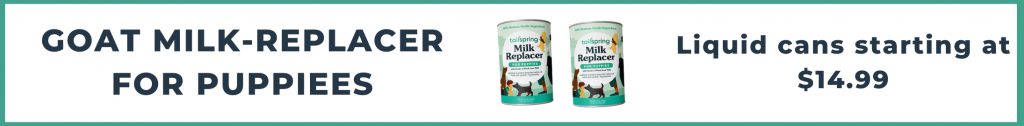 Tailspring milk-replacer liquid for puppies