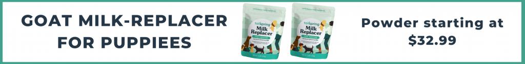 Tailspring milk-replacer starting at $32.99