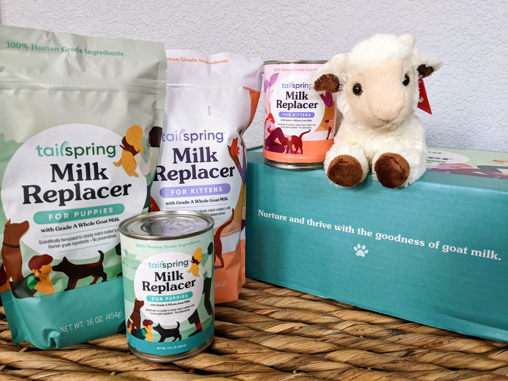 Tailspring milk replacer for puppies and kittens